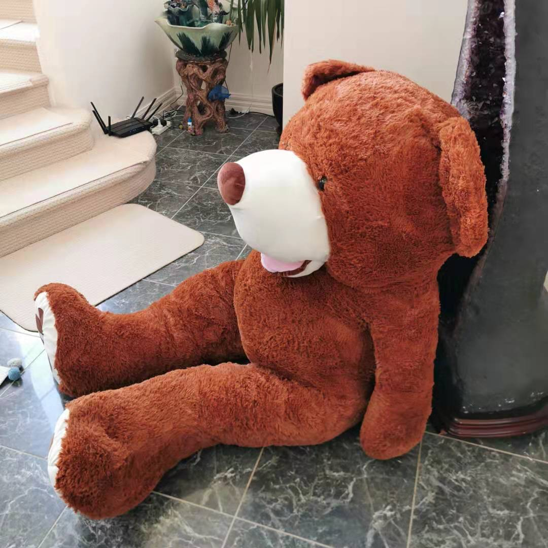 Giant Teddy Bear 1.6 m extra fat--dark brown