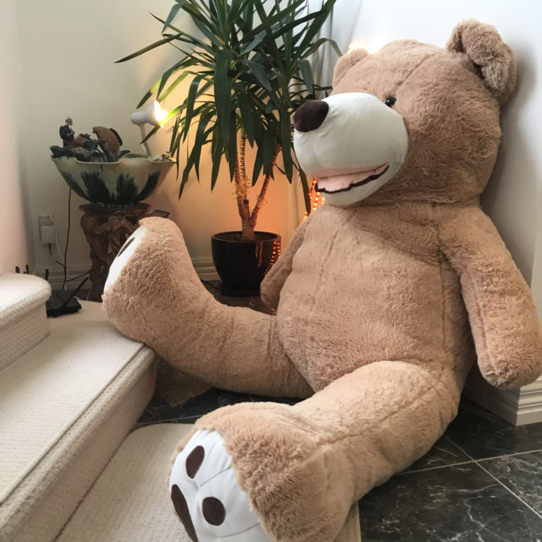 Giant Teddy Bear 2m extra fat--light brown