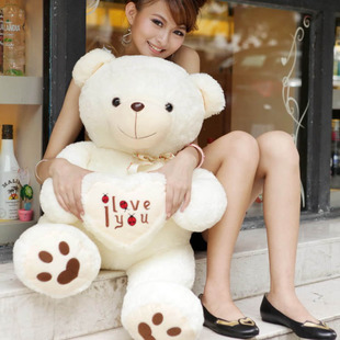 I LOVE YOU HEART TEDDY 90CM