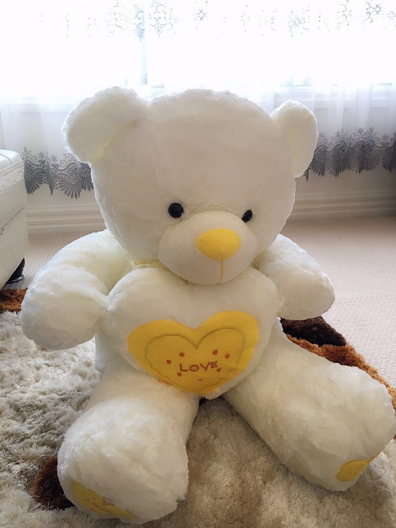 Love Heart Teddy 110cm--yellow heart