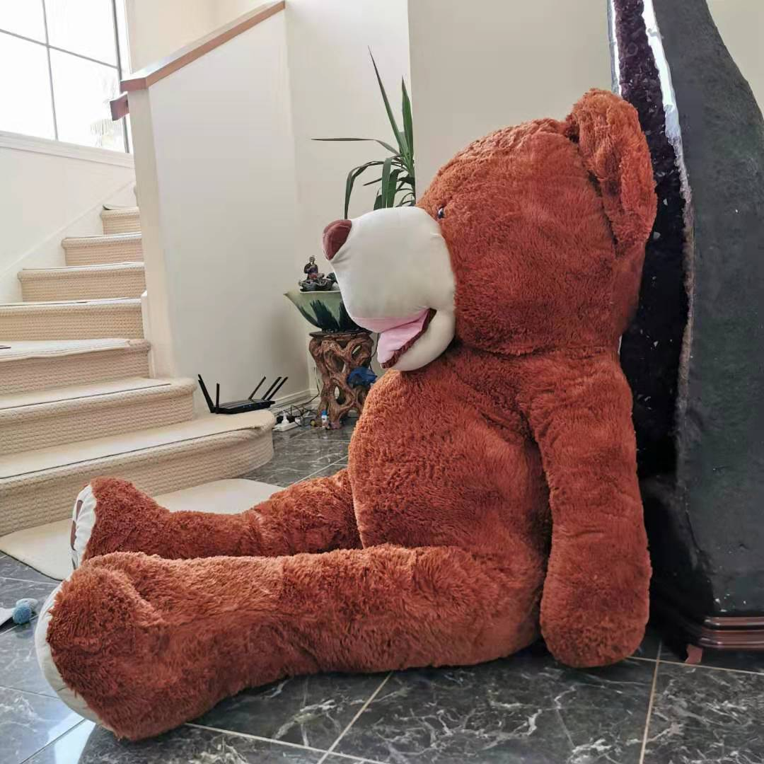 Giant Teddy Bear 2m extra fat--dark brown
