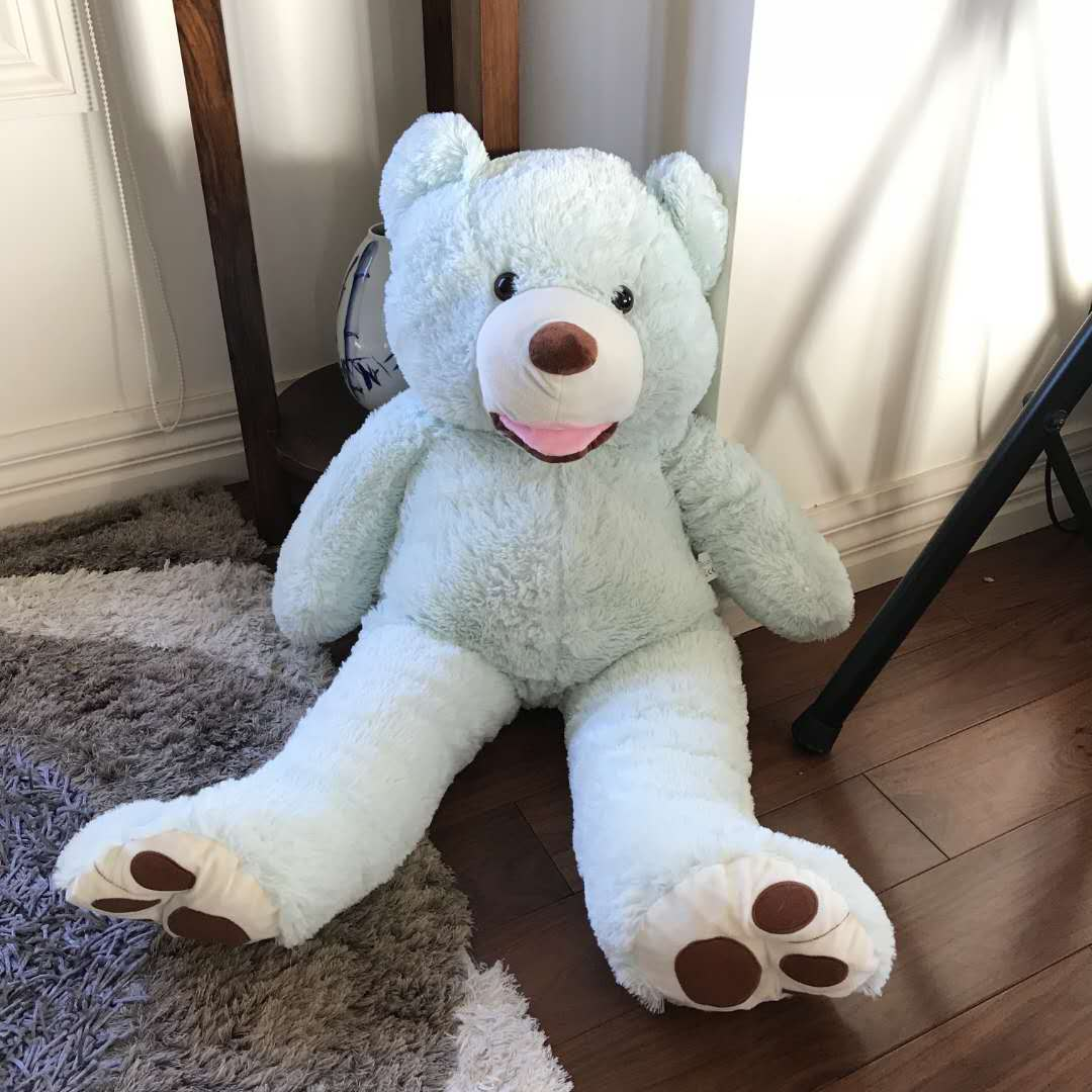 Giant teddy bear 1.1M --baby blue color