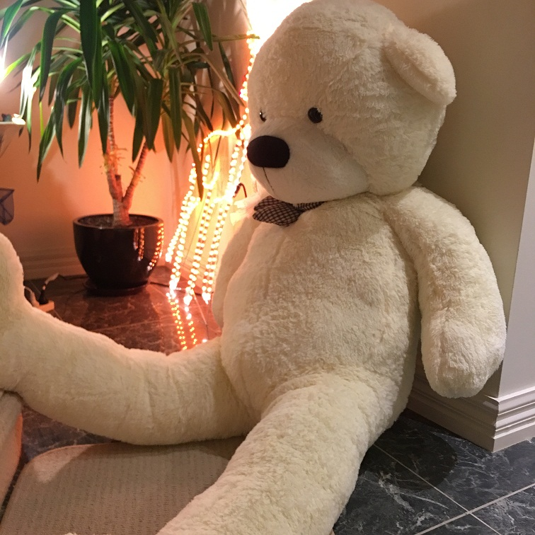Giant teddy bear 2m -- white