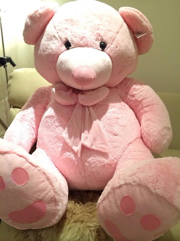 Roly Teddy Bear 140cm extra fat Baby Pink